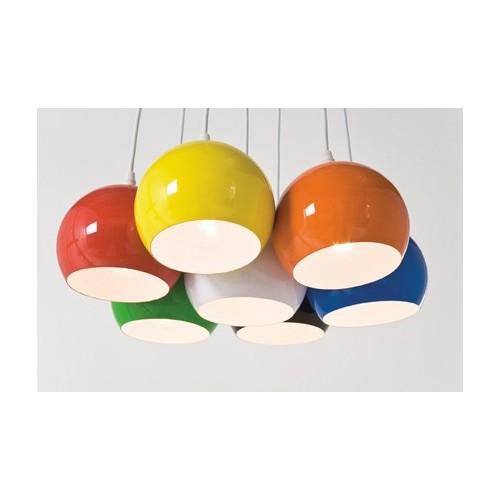 ... > Hanglampen > Hanglamp Retro Kleuren Bundel 7 bollen Kare Design
