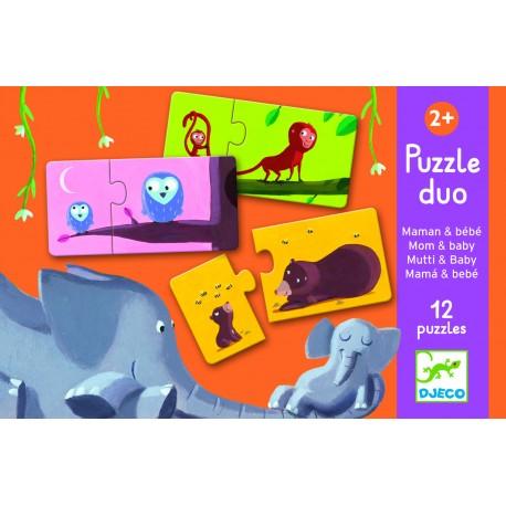 Djeco Duo Puzzel Mama en Baby