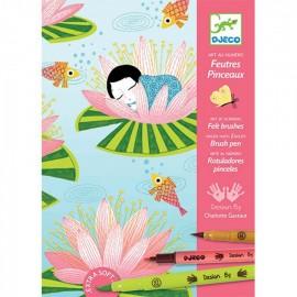 Djeco Kleuren op Nummer Waterlelies