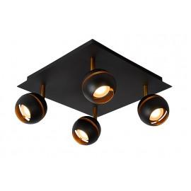 Spot Binari Zwart 4 lichts Led