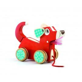 Djeco Houten Trekdier Woofy Dog
