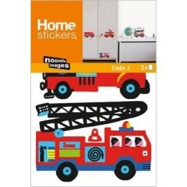 Muurstickers Brandweerauto's