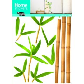Muursticker Bamboe op Steel