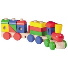 Houten Blokken Trein