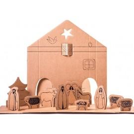 Dutch Design Kartonnen Kerststal