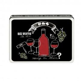 Wijnset in Blik Un verre de vin