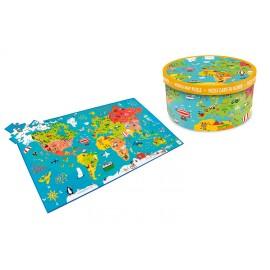 Legpuzzel Wereldkaart XXL