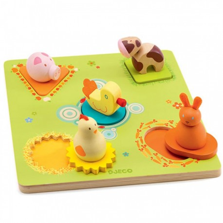 Djeco Duo Relief Puzzel Bildi Duck