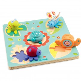 Djeco Duo Relief Puzzel Lilo Schildpad
