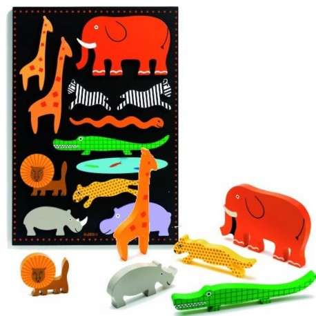 Djeco Duo Relief Puzzel XL Botablo Jungle