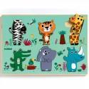 Djeco Relief Puzzel Jungledieren