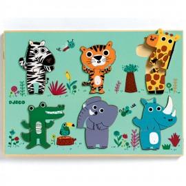 Djeco Duo Reliuef Puzzel Jungledieren