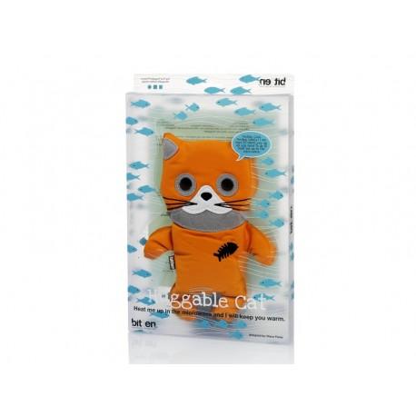 Huggable Oranje Kat Warmteknuffel