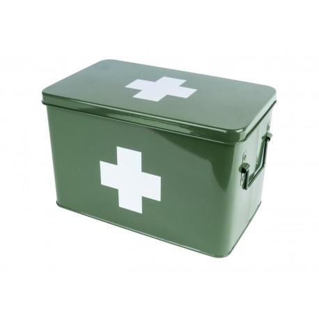 Medicijnkist/Verbandtrommel Groen met wit kruis  Large