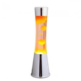 Lavalamp Chroom-Oranje