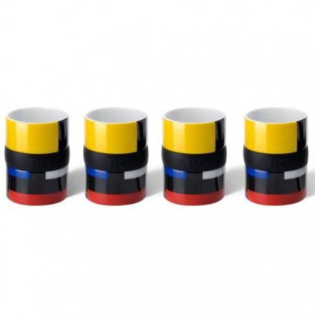 Ring Espresso Kopjes Set 4 - Mondri