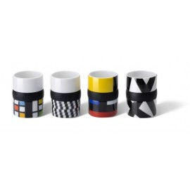 Ring Espresso Kopjes Set van 4 - Asorti