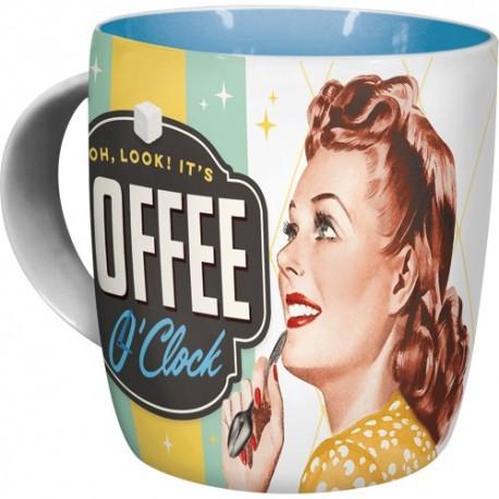 Nostalgic Art Mok Coffee O Clock