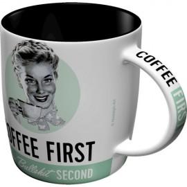 Nostalgic Art Mok Coffee First