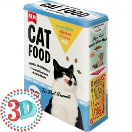 Retro Blik XL 3D Cat Food