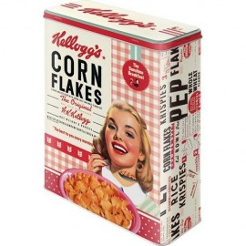 Retro Blik XL Kelloggs Collage