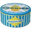 Retro Blik Rond L Wonderland Cookies