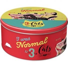 Retro Blik Rond L 3 Cats Ago