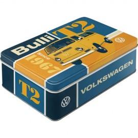 Retro Blik Flach Volkswagen T2 Bulli