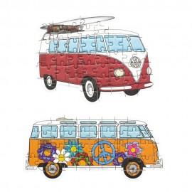 Volkswagenbus Set van 2 Mini Puzzels