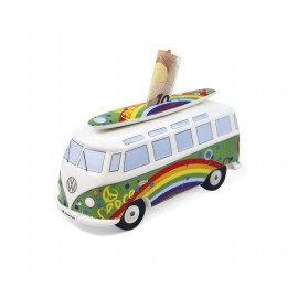 Volkswagenbus T1 Spaarpot Surf Hippiebus