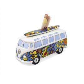 Volkswagenbus T1 Spaarpot Flower Power