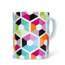 Gekleurde Mok Hexagon