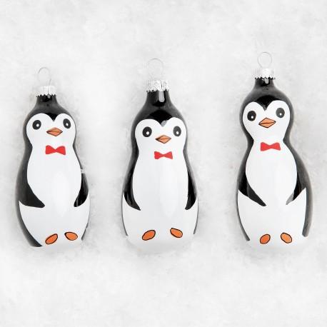 Set van 3 Pinguin Kerstballen