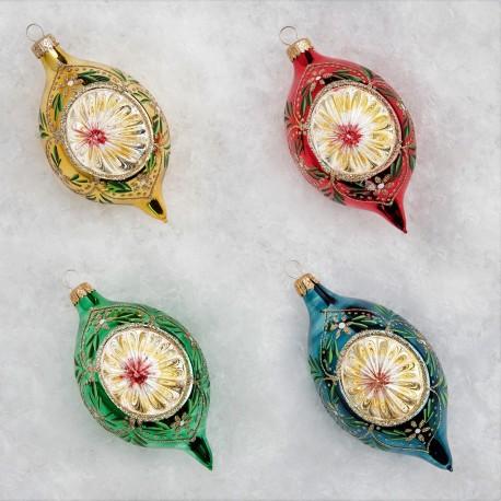 Retro Kerstballen set van 4 Citroen