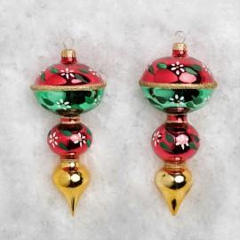 Set van 2 Kerstballen Tol