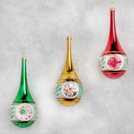 Set van 3 Kerstballen Lang met Deuk