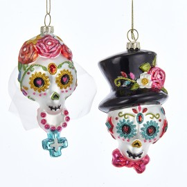 Kerstbal Sugar Skull Set
