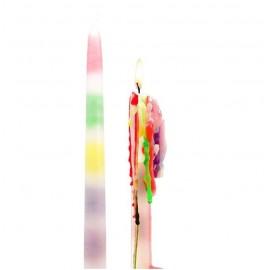Set van 2 Regenboog Druipkaarsen