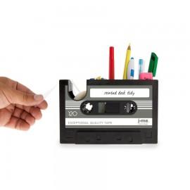 Retro Cassettebandje Bureau organiser grijs