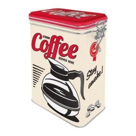 Retro Blik Strong Coffee Severd Here