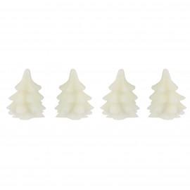 Set van 4 Led Kerstboom Kaarsen