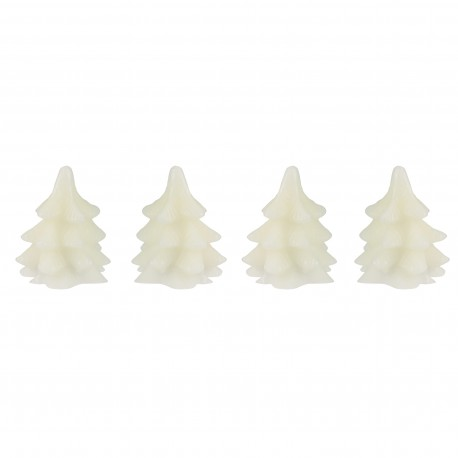 Set van 4 Led Kerstboom Kaarsen