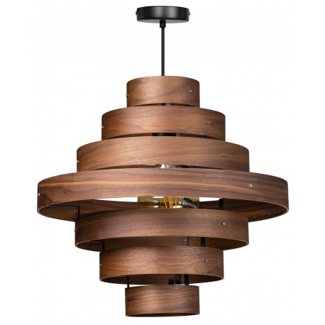 Walnut Hanglamp 7 rings
