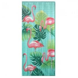 Deurgordijn Bamboe Flamingo