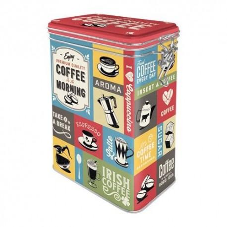 Retro Blik Coffee Colage