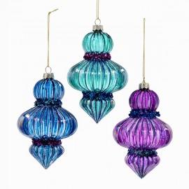 Set van 3 Glazen Kerstboom Hangers 12,5cm