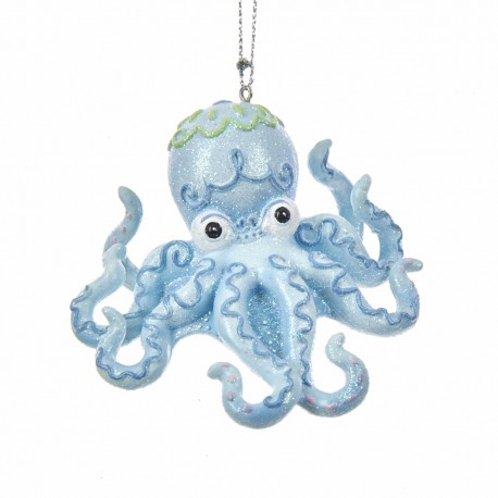 Resin Kerstboomhanger Octopus Ø 8,5 CM