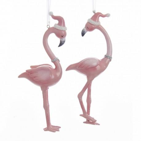 Set van 2 Flamingo Kerstboomhangers 16 CM