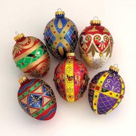 Glazen Jewel Egg Kerstbal