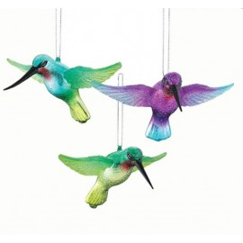 Set van 3 Glazen Kolibries